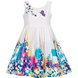 Sunny Fashion Girls Dress Butterfly Seeking Flower Embroidery Chinese Style