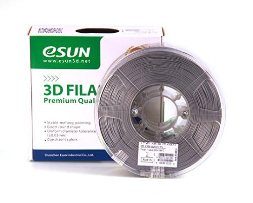 eSUN 1 75mm Silver Printer filament