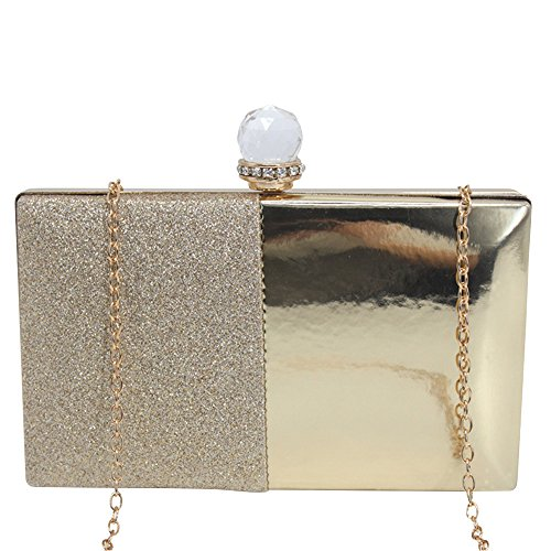 Wocharm Evening Party Gold Wedding Diamante Bag Prom Clutches Womens Crystal Designer ffw8Pr