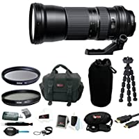 Tamron SP 150-600mm f/5-6.3 Di VC USD Lens for Canon with 95mm Filters and Deluxe DSLR Accessory Bundle with Bag