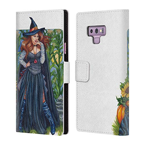 Official Jane Starr Weils Autumn Solstice Witch Leather Book Wallet Case Cover for Samsung Galaxy Note9 / Note 9