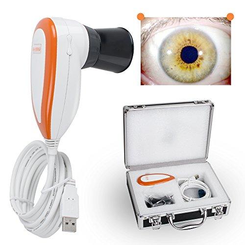 ixaer New 5.0MP Iriscope Iris Analyzer 5 Mega Pixels Single/Dual Alternation USB 30X Lens Iridology Camera with Pro Iris Analysis Software, Ship from USA, 1-3 Days -