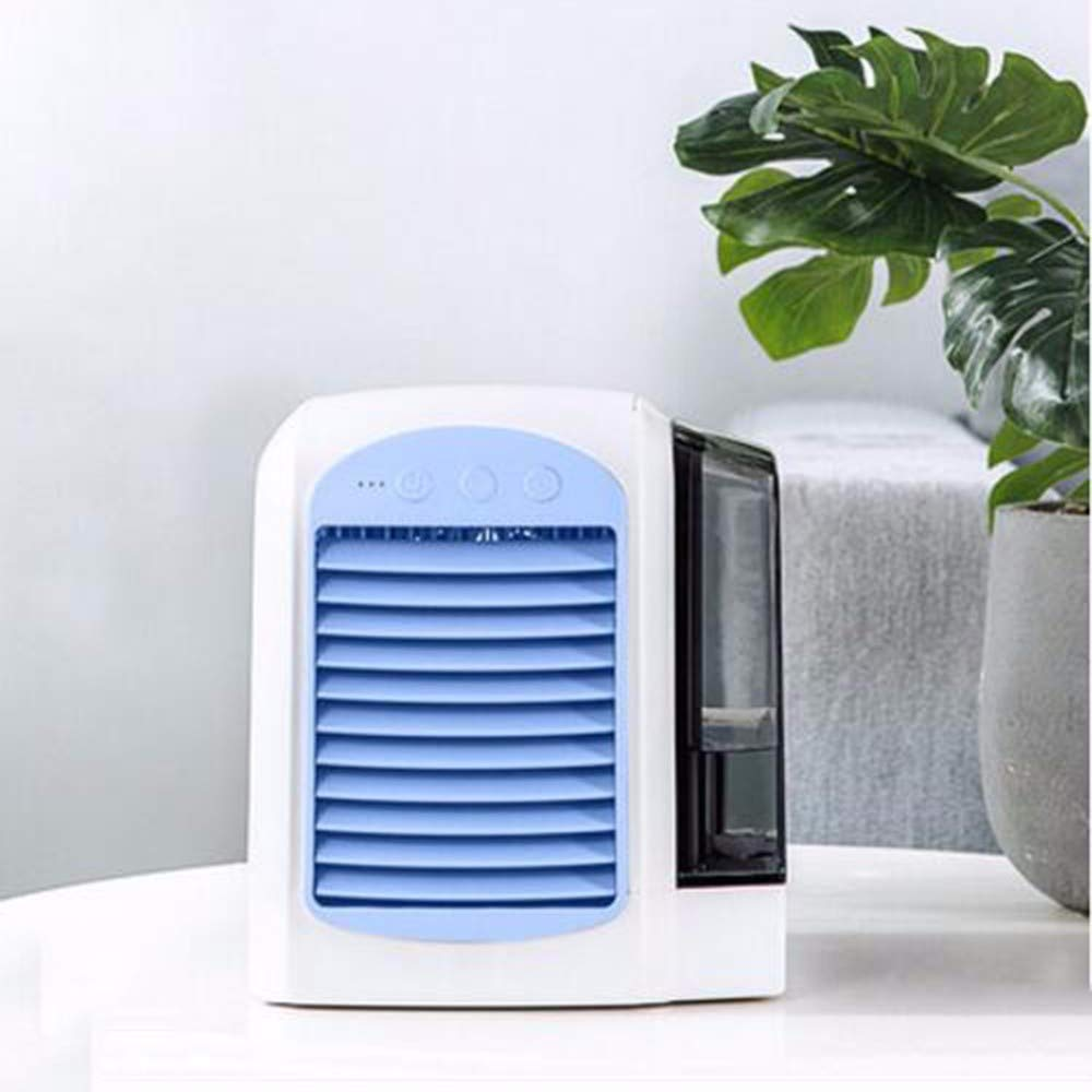 Mini Fan USB Mini Air Conditioning Cooler Desktop Refrigeration USB Small Fan Dormitory Bed Office Air Cooler,B