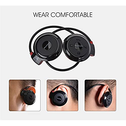 95b583a57fb Efanr Mini Bluetooth Headsets Wireless Stereo Sports Headphones Neckband Earphones  Earbuds with Microphone   FM Radio