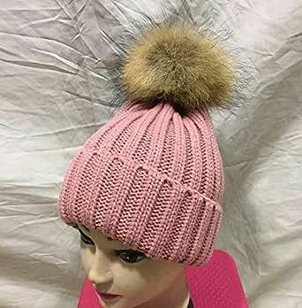 Pink Beanie & Bobble Hat For Girls