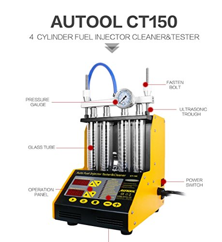 AUTOOL MINI CT-150 Automotive 4 Cylinder Ultrasonic Wave Injector Cleaner and Tester Support Motorcycle CT150 Automotive Fuel Cleaning Tools With Motorcycle Adapters by AUTOOL (Image #1)