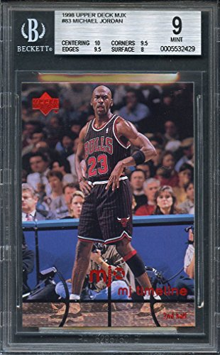1998 upper deck mjx #83 MICHAEL JORDAN chicago bulls BGS 9 (10 9.5 9.5 8) Graded Card