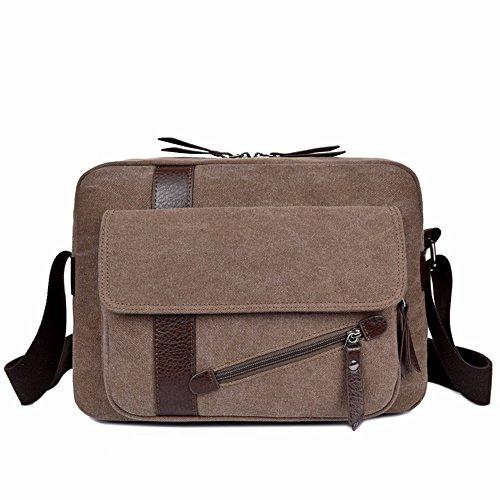 LMDSG Beiläufige Schulterbeutel der Männer Männer Umhängetasche Freizeit Retro Tasche Reisetasche Retro Flut Tasche brown fMsKmv