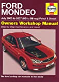 Ford Mondeo Petrol and Diesel Service and Repair Manual: 2003 to 2007 (Service & repair manuals) by R. M. Jex (12-Sep-2014) Hardcover