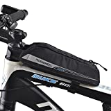 FlexDin Bicycle Frame Energy Bag, Road Racing/Touring / Triathlon Aerodynamic Bike Top Tube Cycling Fuel Bag Food Pouch Waterproof 420D 0.4L Black