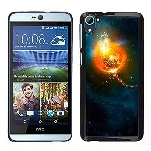 El Sol y el espacio - Metal de aluminio y de plástico duro Caja del teléfono - Negro - HTC Desire D826