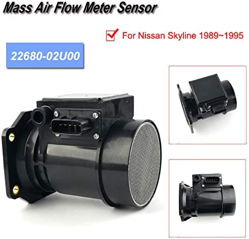 Mass Air Flow Sensor 22680-02U00 For 1989-1995 Nissan Skyline