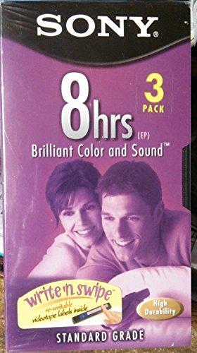 Sony T-160vl/wa Video Cassette (3 Pack)