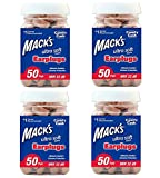 Mack's Ultra Soft Foam Earplugs, 50 Pair - 32dB Highest NRR, Comfortable Ear Plugs for Sleeping, Snoring, Work, Travel and Loud Events (4 X 50 PAIRS)