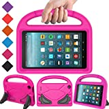 BMOUO Case for All New Fire 7 2017 - Light Weight Shock Proof Handle Kid –Proof Cover Kids Case for All New Fire 7 Tablet, Rose