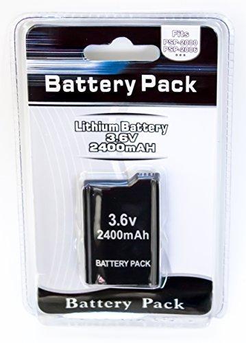 2400 Mah Extended Battery - OLD SKOOL EXTENDED 3.6V 2400mAh Li-ion Slim Rechargeable BATTERY PACK For SONY PSP Slim 2000/3000