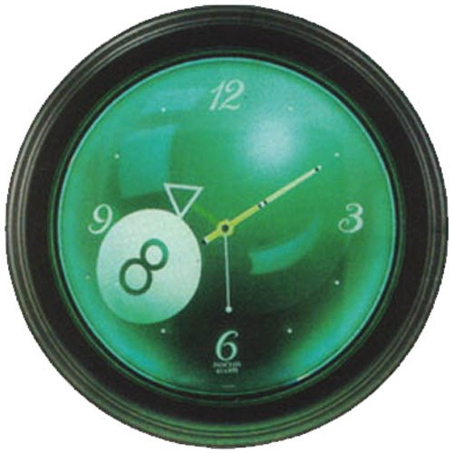 Glowing 8-Ball Neon Clock - Ball Clock Neon 8