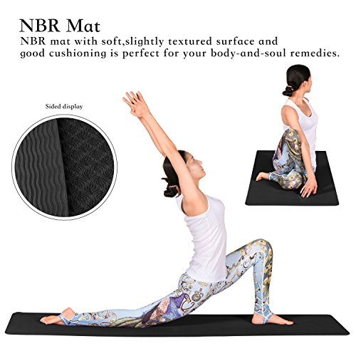 Fitian Yoga Starter Kit 6 Piece include 1 Yoga Mat, 2 Yoga Blocks, 1 Yoga Strap, 1 Yoga Mat Towel, 1 Yoga Hand Towel
