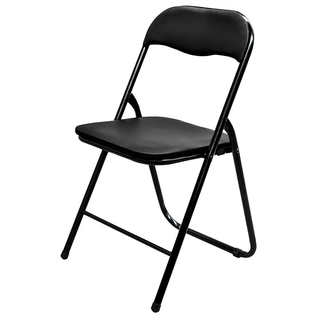 Black XHLZDY Folding Chair Stool Home Computer Chair Office Chair Folding Chair (45×47×79cm) (color   Black)