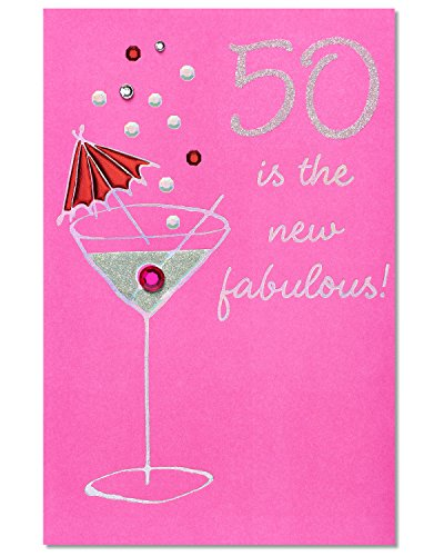 0 Is the New Fabulous Birthday Card with Rhinestone (Fabulous Birthday Card)