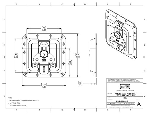 Tch Hardware 2 Pack Heavy Duty Surface Mount Latch