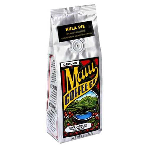 Maui Coffee Company 20% Maui Blend Hula Pie Coffee (Ground), 7-Ounces (Pack of 3)