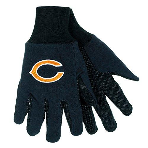 Walter Cotton Gloves (NFL Football Multi Color Team Logo Sport Gloves - Pick Team (Chicago Bears (C)