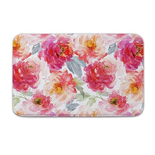 DKISEE Indoor Outdoor Entrance Rug Floor Mat Bathmat Juniper Floral Blooms Doormat, 15.7
