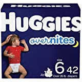 Nighttime Baby Diapers Size 6, 42 Ct, Huggies