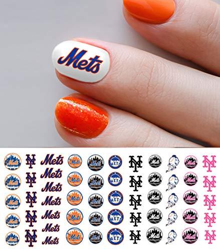 - New York Mets Baseball Waterslide Nail Art Decals - Salon Quality