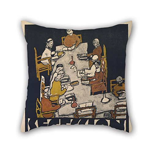 Alphadecor Oil Painting Egon Schiele - Secession 49. Exhibition Throw Pillow Covers ,best For Car Seat,teens Boys,home Theater,gf,boys,lover 20 X 20 Inches / 50 By 50 Cm(twin Sides) (Car Seat Cover Frogs With Leaves compare prices)