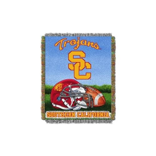 Basketball Collegiate Pacific (The Northwest Company Officially Licensed NCAA USC Trojans Home Field Advantage Woven Tapestry Throw Blanket, 48