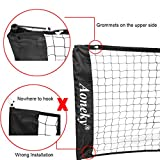 Aoneky Mini Portable Tennis Net for Driveway - Kids Soccer Tennis Net - Family Pickleball Tennis Game Toy for Boys Children Aged 6+ Years Old