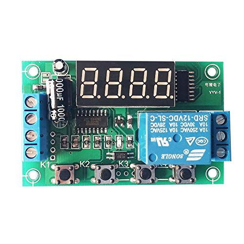 Pukido Charging Discharge Voltage Monitor Test Relay Switch Control Board Module Can Control the Load within DC 30V or AC 220V 5A