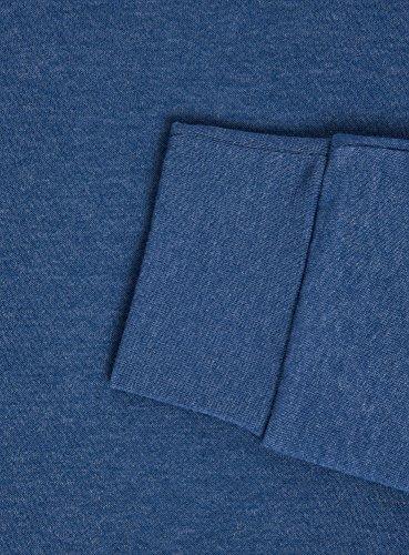 Basique Sweat Homme Ultra Encolure Avec 7400m Bleu Arrondie Oodji qRtf1