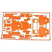 Teepao Skin for DJI Mavic Pro Luxury Precision DIY Carbon Fiber Decals Waterproof Stickers Drone Transmitter Battery Full Covers Set - Orange