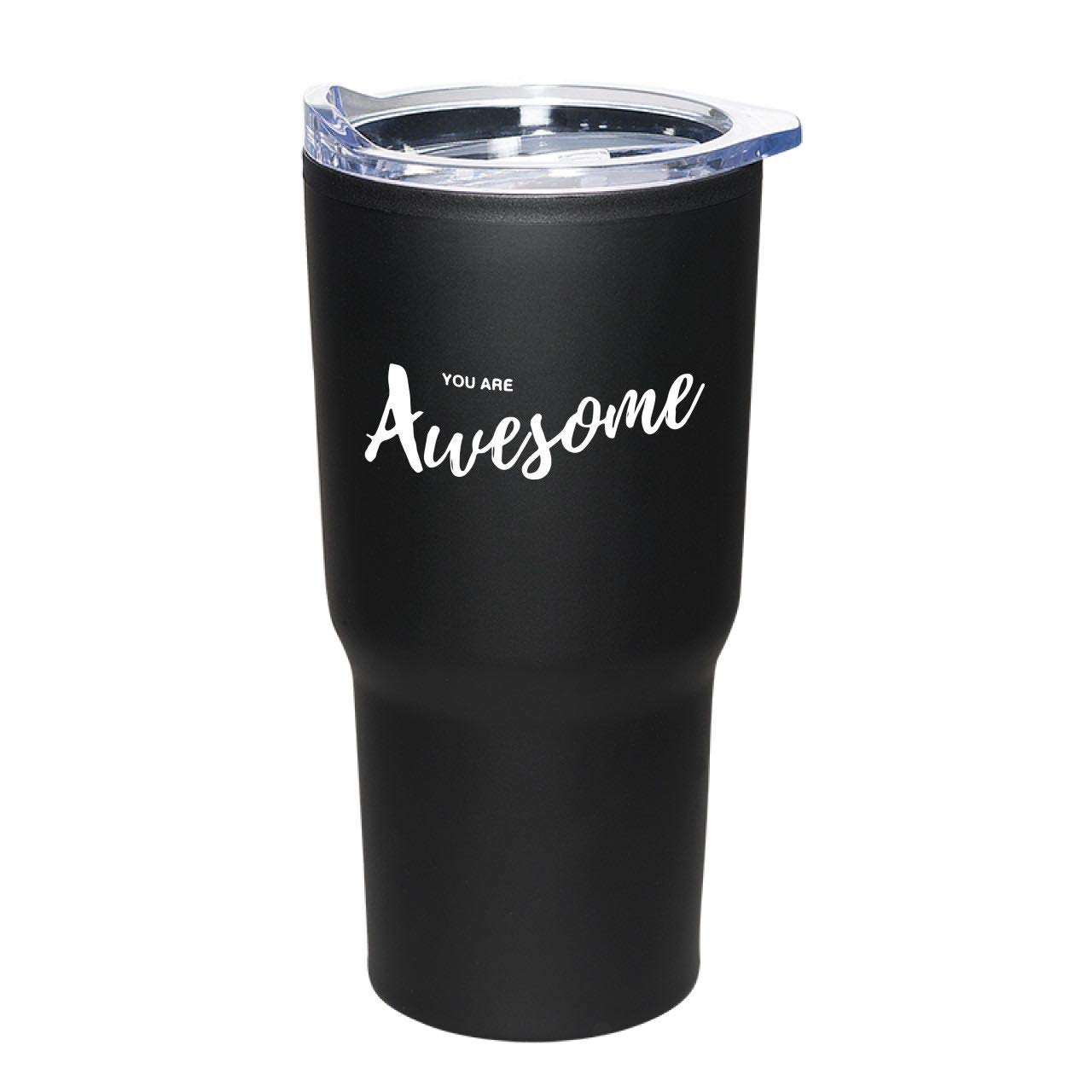 12- Piece Set''You Are Awesome'' Black 20 oz Stainless Tumblers/Employee Appreciation Gifts/Stainless Tumbler/Teacher Thanks/Corporate Thank You Travel Mugs/Nurse's Day Gifts