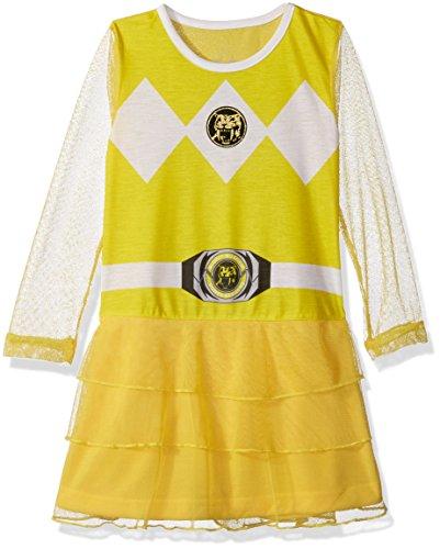 Mighty Morphin Power Rangers Costume Amazon (Intimo Big Girls' Power Ranger Yellow Ranger Mighty Morphin Nightgown Pajama, Yellow, 4/5)
