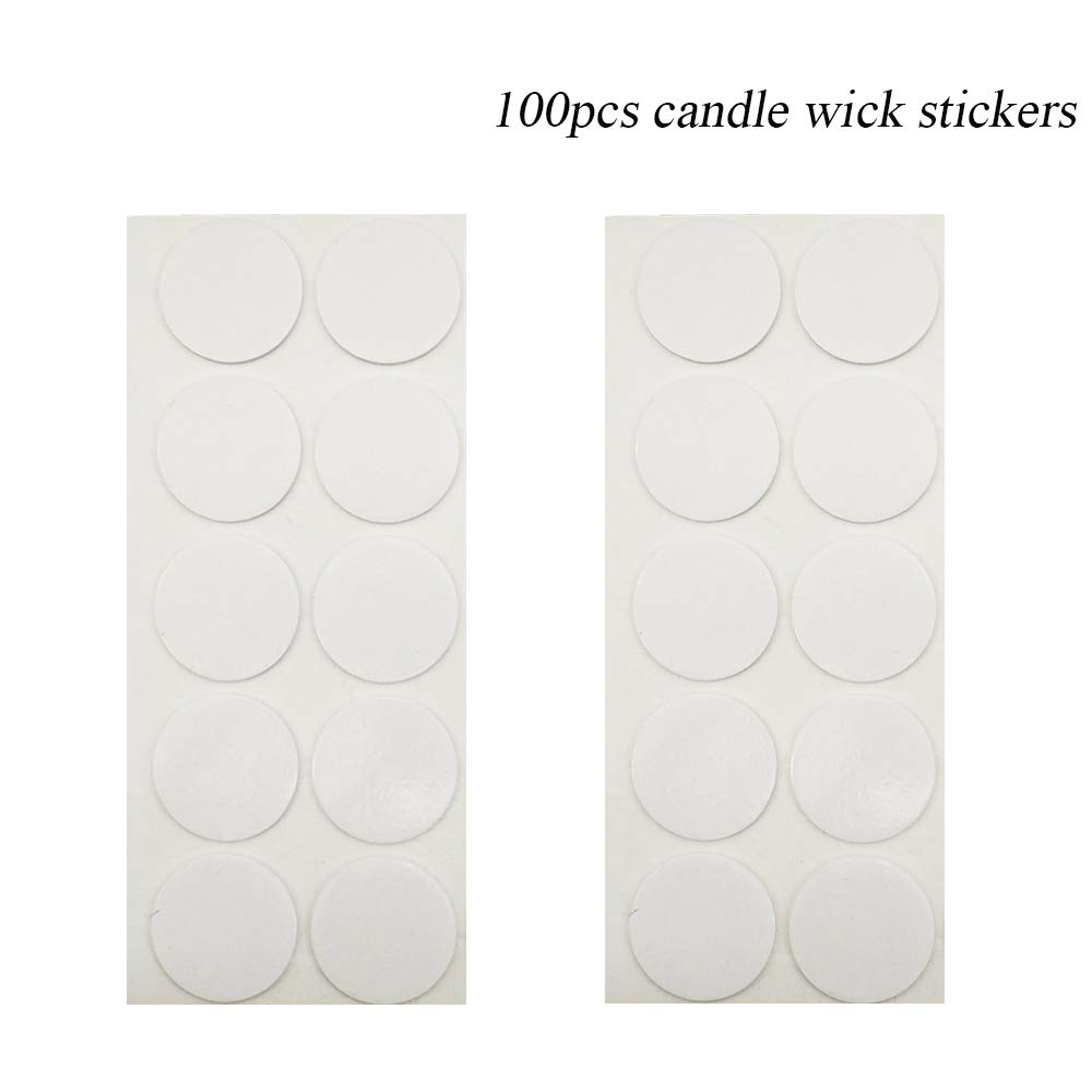 8 inch Candle Wick with Candle Wick Sticker and Candle Wick Centering Device Baffo 100pcs Low Smoke/&Natural for Candle Making DIY Candle Making Supplies