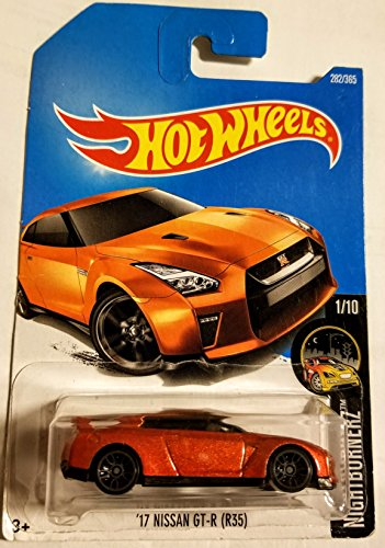 Hot Wheels 2017 Nightburnerz '17 Nissan GT-R (R35) 282/365, Orange