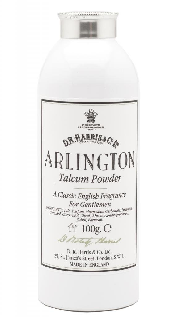 DR Harris & Co Arlington Talcum Powder with Citrus and Fern dr-talc-arl-100