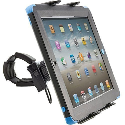 ChargerCity Strap-Lock Tablet Mount for Bicycle Treadmill Exercise Bike Boat Helm Handlebar w/ universal tablet holder for Apple iPad Mini Air PRO /Ipad Samsung Galaxy Tab
