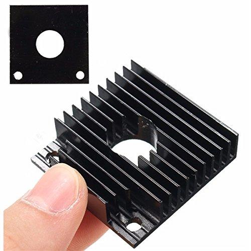 Alamor Impresora 3D 40X40X11mm Aluminio Negro disipador de Calor ...