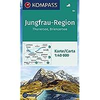 KOMPASS Wanderkarte Jungfrau-Region, Thunersee, Brienzersee: Wanderkarte GPS-genau. 1:50000: Wandelkaart 1:40 000 (KOMPASS-Wanderkarten, Band 84)