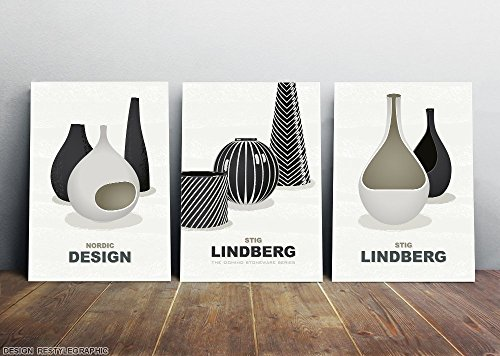 10% Off for art set from three, Black and white minimalist a