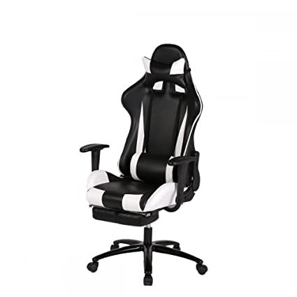 Amazoncom White Gaming Chair High Back Computer Chair Ergonomic