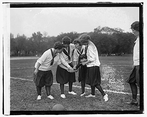 Vintography 16 x 20 Reprinted Old Photo ofGirls soccer 1919 National Photo Co 52a by Vintography
