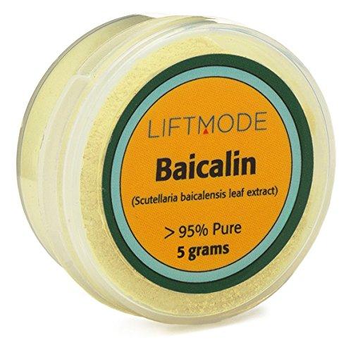 LiftMode Baicalin Powder - 5 Grams (Sample)   95% Pure Supplement   Chinese Skullcap, Baicalein, Baical Skullcap Root Powder, Huang Qin Scutellaria