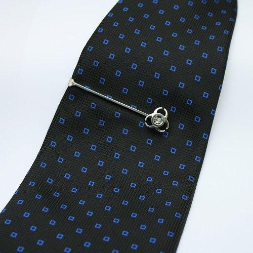 ZAUNICK Biohazard Tie Clip Sterling Silver