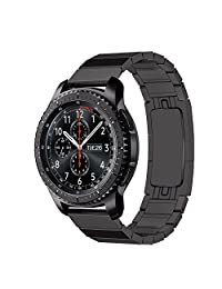 LDFAS Gear S3 Band Quick Release Stainless Steel Metal Link Bracelet Strap for Samsung Gear S3 Frontier / Classic - Black
